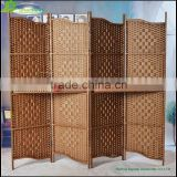 Handmade Paper Rope Changing Room 4 Panels Lows Room Partition office living room partition screen,indoor decor GVSD008