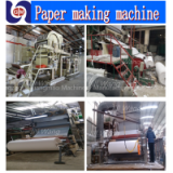 Hot selling zhengzhou guangmao 1880mm model 5-6ton per day  toilet tissue paper making machinery,paper recycling machine price