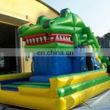 hot sale crocodile inflatable fun city