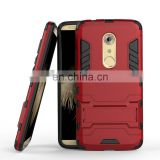 Detachable 2 in 1 with Stand Hybrid Hard PC + Black TPU Back Cover Case for ZTE Axon 7