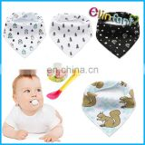 Infant Saliva Towel Baby Burp Bandana Bibs Cotton Soft Kids Toddler Triangle Scarf Bib Cool Accessories