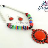 Wholesale indian costume jewelry-indo western jewelry-party wear necklace-fashion jewelry-Indian handmade beaded jewelery