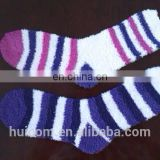 plush socks manufacture in factory