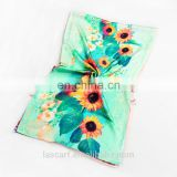 Sunflower scarf 100% pure silk satin on sale