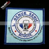 custom woven school logo badge patch for uniform garment