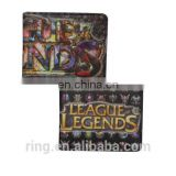 Wholesale Coin Purse League of Legend Logo Game Card Wallet Leather Wallet for Men