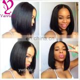 "8-26"" human hair lace front wig 100 brazilian virgin hair full lace wigs Glueless bob style human hair wig"