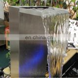 Outdoor Stainless Steel Waterfall Pond Water Fountain