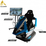 Cheap Play Virtual Alliances 9d Cinema 5d Movies 7d Films 3 DOF Seat Car Racing Games Simulator for Sale
