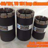 T6-101 impregnated diamond core drill bits, exploration drilling bit, rock coring, geotechnical drilling bits