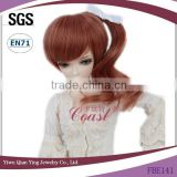 short brown Fashion ponytail baby doll hair wigs