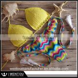 Women Summer Vintage Crochet Beach Bikini Set 2016 Hot Sale Sexy Push Up Padded Swimwear                                                                         Quality Choice