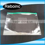 clear blue pvc plastic zipper ducument bag