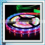 Hot!Waterproof IP67 Romote Control RGB LED Flexible Strip Light SMD5050 60LED/M Single12-14LM 10MM 2 Years Warranty with CE&RoHS