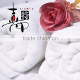 100% cotton luxury custom terry white fancy hotel bath towel with satin                                                                         Quality Choice