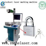 Fast and high efficiency fiber laser marking machine used in marking rings bracelets mugs watches sanitary ware IC keyboard etc