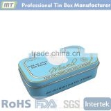 rectangular hinged metal tin box for pomade                                                                         Quality Choice