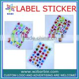 High quality multicolour alphabet self adhesive label sticker