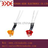 Patent Design waterproof LED 8mm diamater red yellow color led signal pilot indicator light