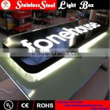 stainless steel frame and acrylic inside color led backlit light box                                                                         Quality Choice
