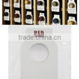 Wholesale custom RED and WHITE wine bottle hang tag wine tag                                                                         Quality Choice