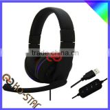 2016 fashionable computer stereo usb gaming headphones with microphone