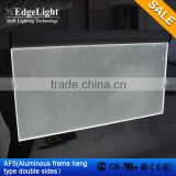 led light box logo sign double sides visible display board, Hanging advertising lightbox frame sign light box