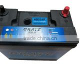 Great base factory brand name auto battery NS60 mf rechargeable car battery 46B24R 45Ah 12V