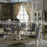 Noble treasures elegant french style dinging table and chair set with cabinet / french royal round table CZ102