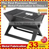 Commercial Folding Portable Charcoal BBQ Grill with Wire Mesh For Sale