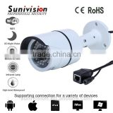 Sunivision factory wholesale weatherproof 2mp 720p rohs door outdoor wifi ip / analog ahd security cctv camera kit                                                                         Quality Choice