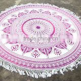 Boho Hippie Cotton Roundie Beach Throw Yoga Mat Indian Mandala Wall Hanging Dorm Decor Tapestry
