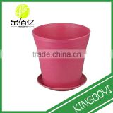 Decorative Round bamboo fibre Tub Garden Planter indoor bamboo eco flower pot patio house planter outdoor