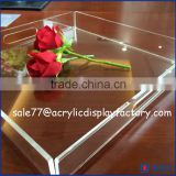 customized stackable colorful acrylic luxury serving tray wholesale price, high quality from China