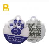 NFC Pet ID Collar rfid tag plastic nfc dog tags