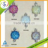 Wholesales bezel coonector charm, colorful bezel charm, resin connector charm or pendant