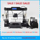 2016 shenzhen Best quality desktop printer 3d printer china for 3d printer kit DIY art daily necessities building model jewelry
