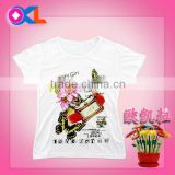 Chinese best quality fashionable cute wholesale custom t-shirts drop ship