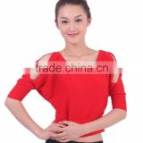2016 High quality cheap women cotton red tribal belly dance tops dancing costume top for sale