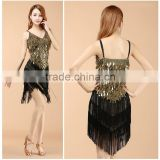 2016 New arrivals sexy fringe latin dance dress for girls cheap tassel latin dance skirt on sale 4 colors available