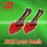 Christmas promotion 20mm diamenter HRC65 carbide ballnose endmill