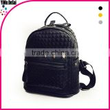 Rivet backpack female tide bag weave travel bags PU leather fashion bags student school bag