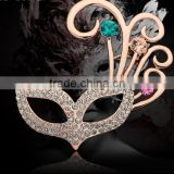 The Newest Style Palace Retro Mask Brooch Shawl Pin Classic DIY Mask Brooch Pin