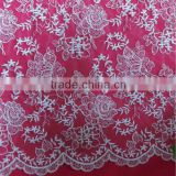 Ivory Corded Lace Fabric With Wave Scalloped Edge