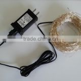 224 Leds holiday led string lights Outdoor Waterproof Timer 12V US adapter Rattan Lamp Silver Wire