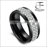Couple's Fashion rings Ceramic Cubic Zirconia His and Hers Black White