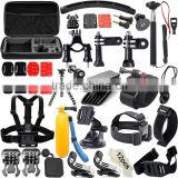 Cheap Common Outdoor Sports Kit Accessories for All Sj4000 Sj5000 Sj6000 Sports Cameras for Gopro Hero4 Silver Black Hero 4 3+ 3