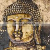 Wholesale Price Excellent Detail Handmade Abstract Buddha Oil Painting On Canvas For Living Room