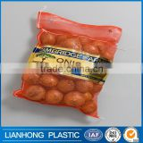 2016 hot selling product leno mesh bag with label, vegetable fruit leno mesh bag , PP mesh bag for potato