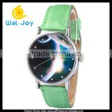 WJ-5458 planet face hot sale bright colorful with rhinestone vogue charming quartz girls watch